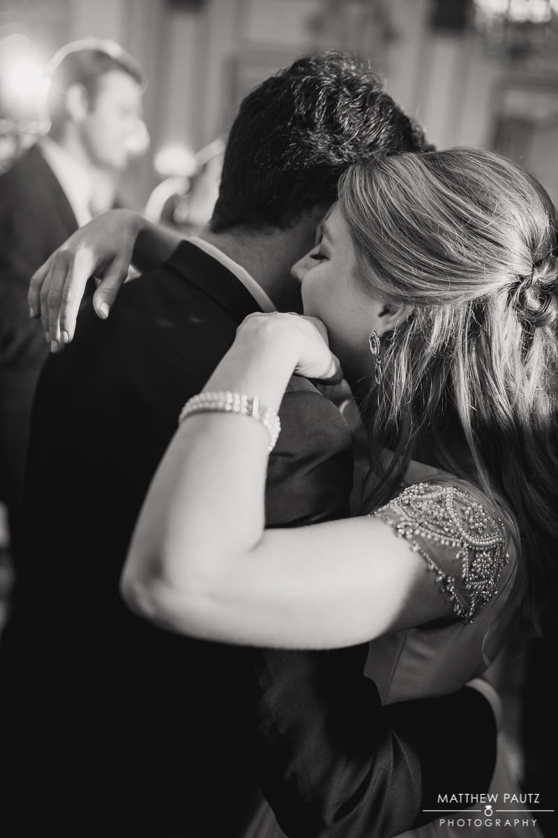 Romantic first dance at wedding reception