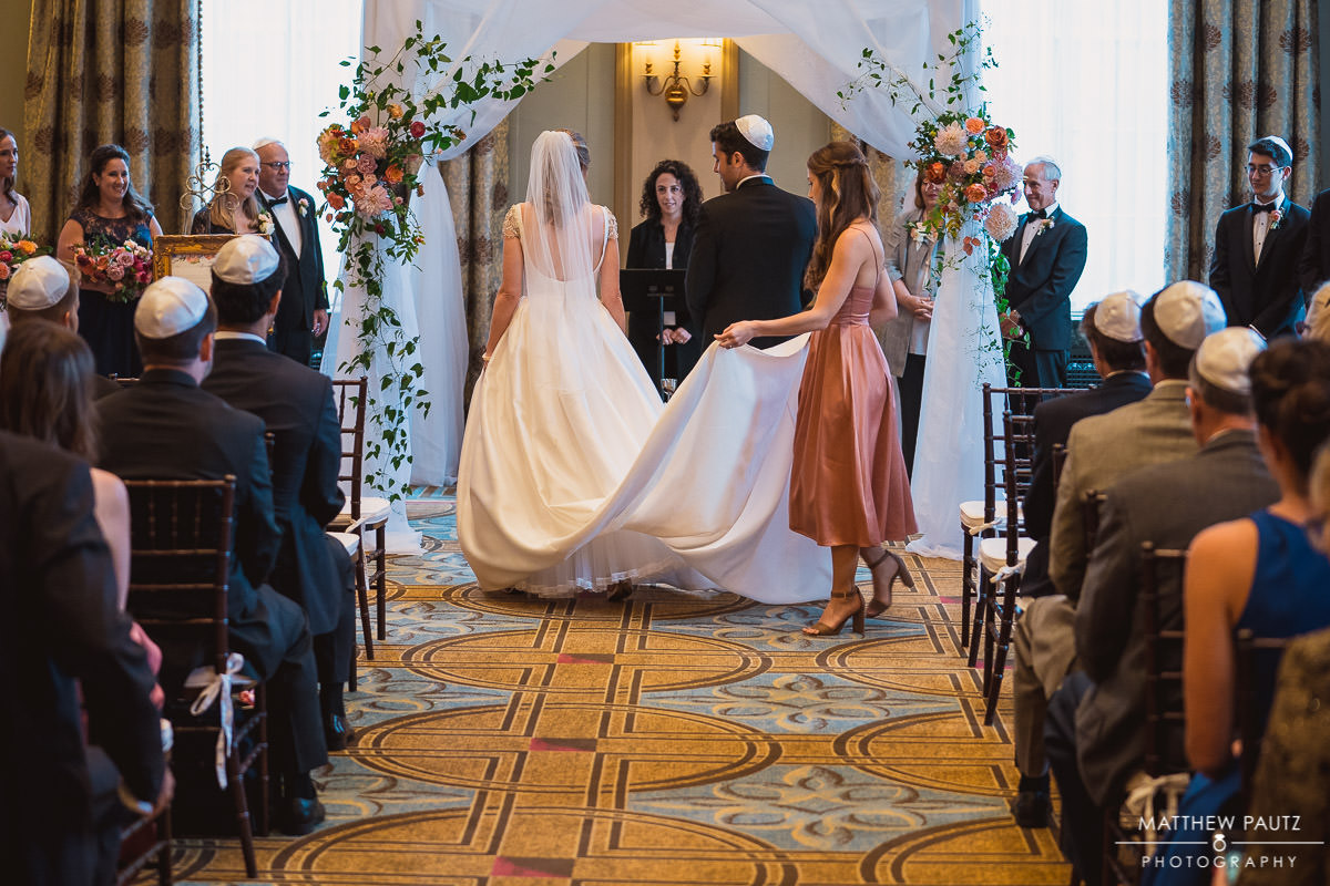 Jewish wedding ceremony at The Westin Poinsett