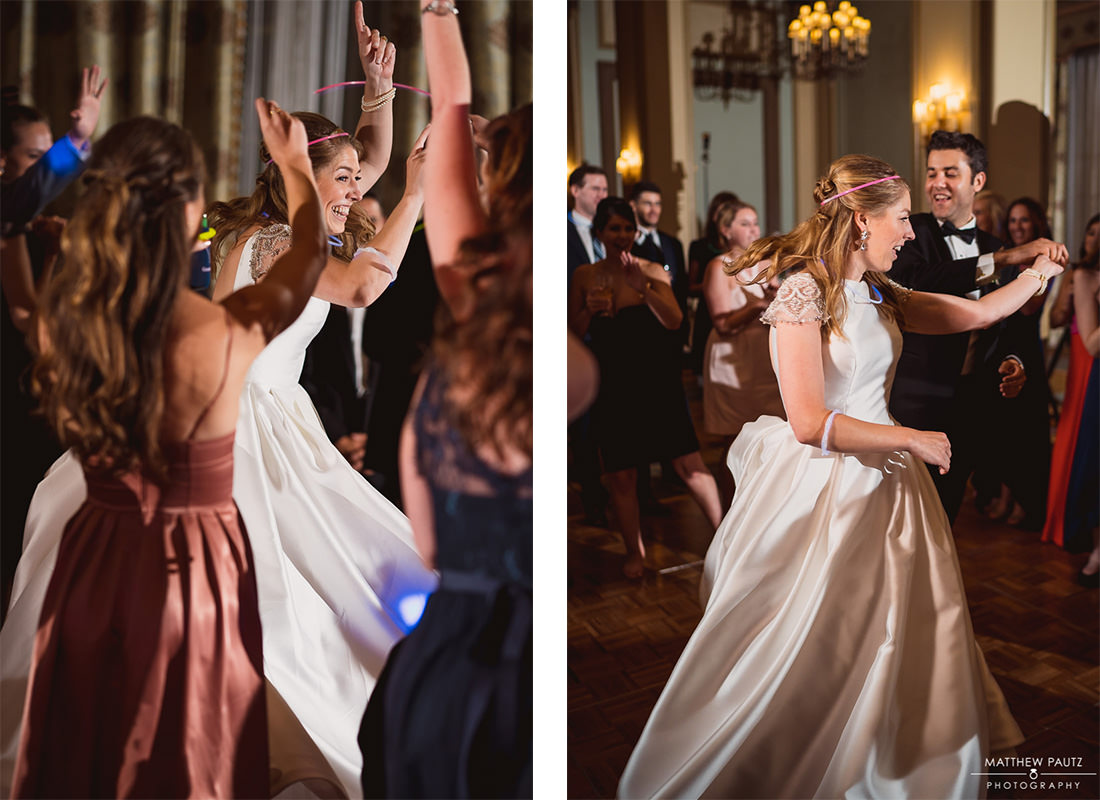 Bride dancing and her reception