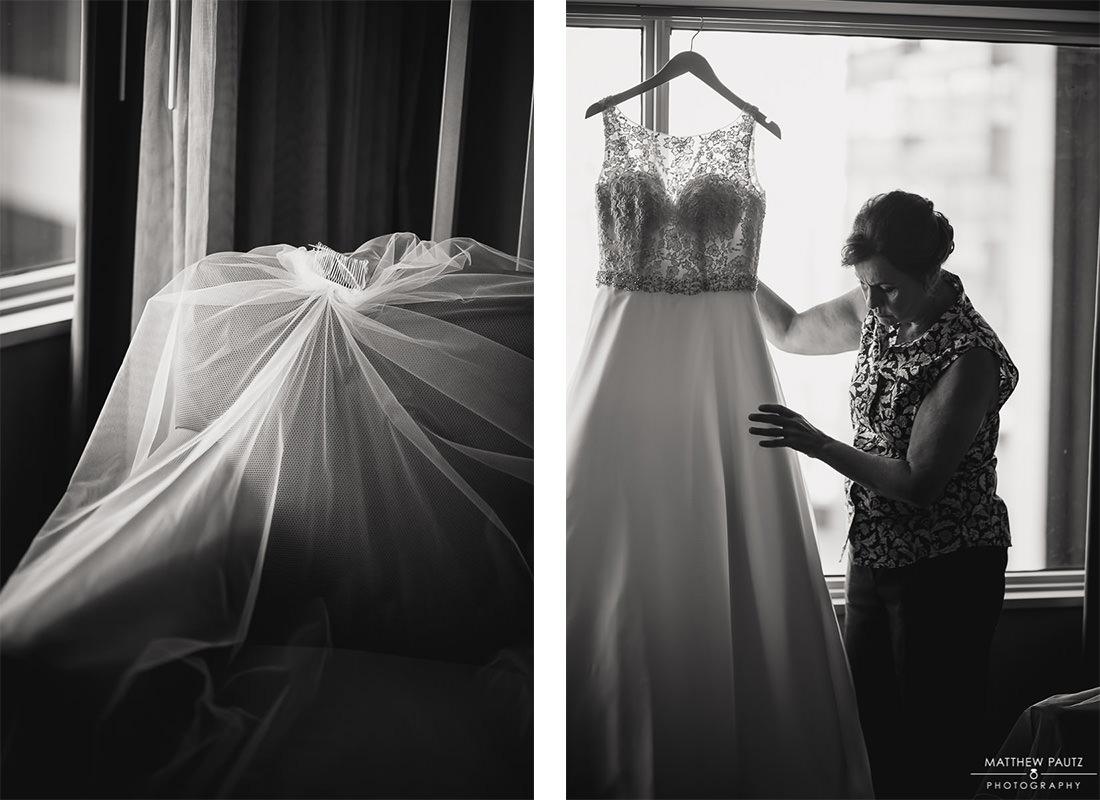 Wedding dress photos at The Hyatt, Greenville Sc