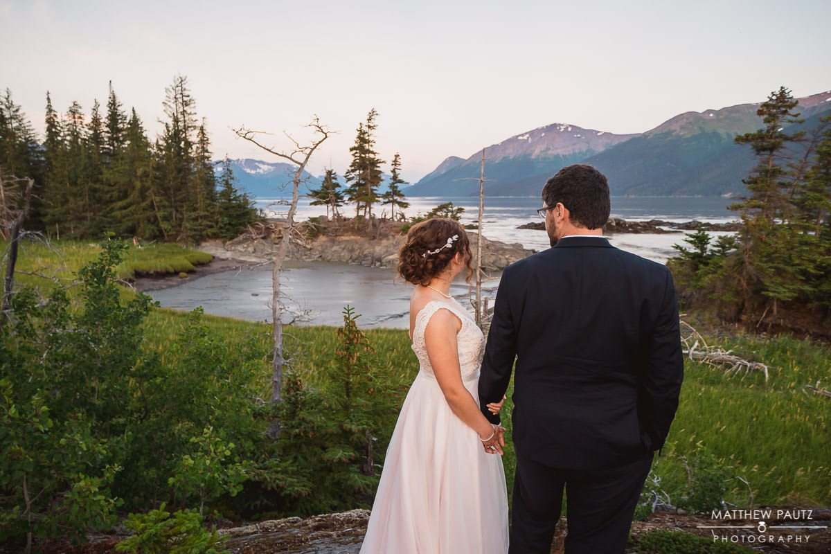Wedding at Bird Point, Anchorage Alaska