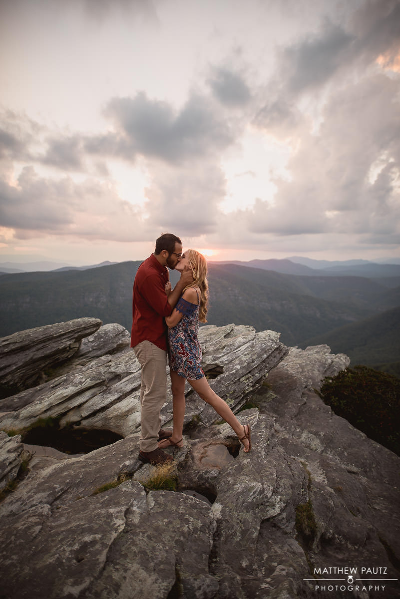 mountain top engagement photos