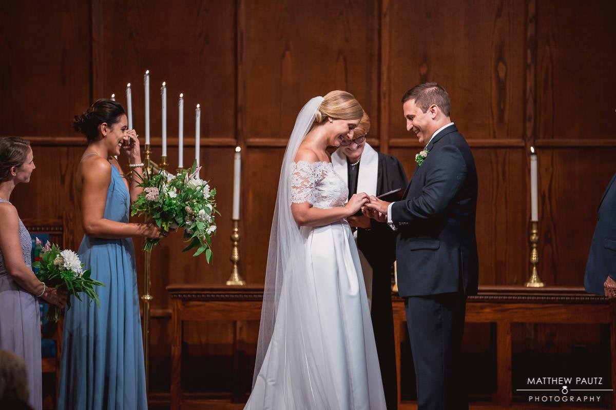 First Presbyterian church wedding ceremony