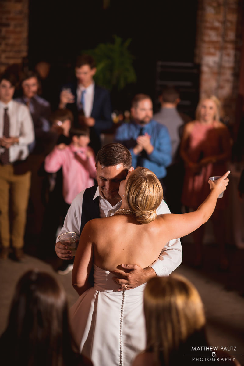 bride and groom dancing at wyche pavilion