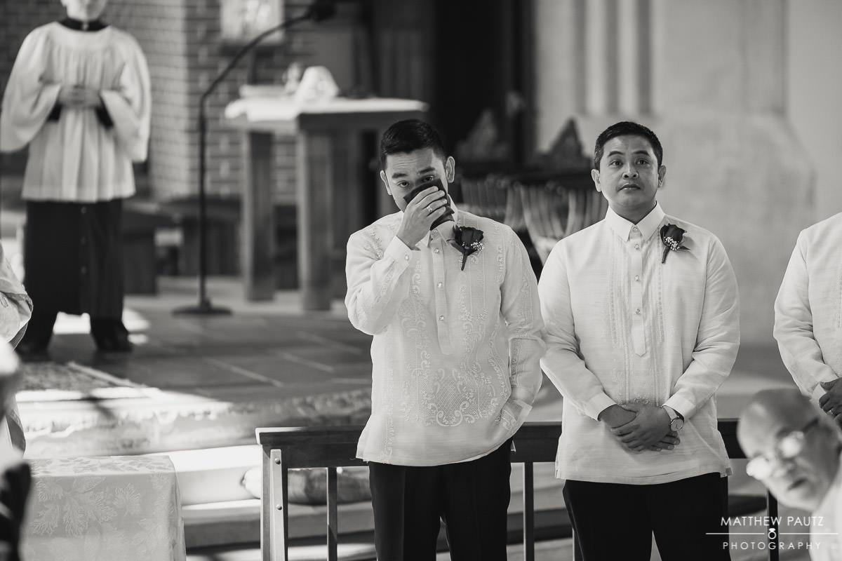 price of peace catholic church wedding photos