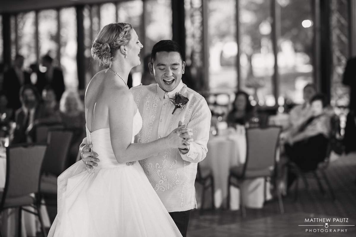 Wedding reception at Furman's Hartness pavilion