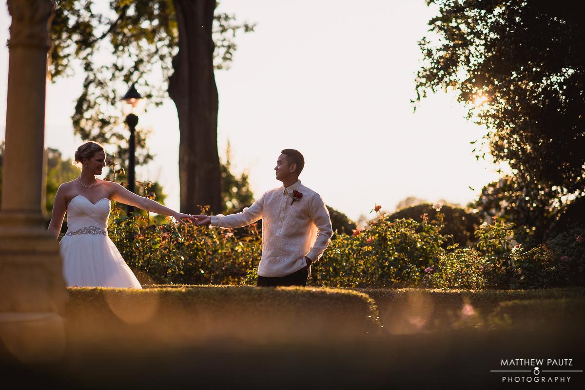 Furman university wedding photos at sunset