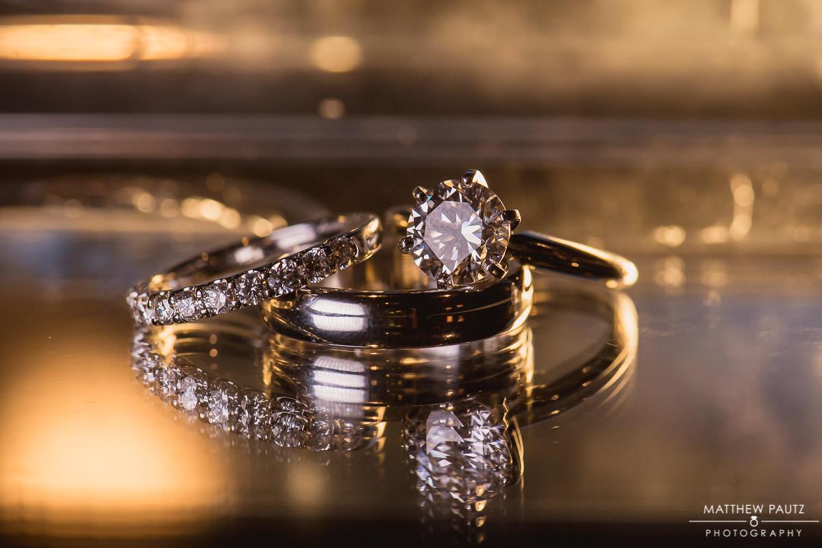 Closeup photo of wedding rings