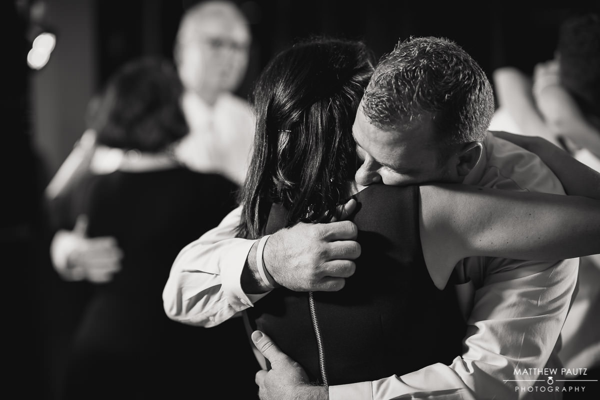 Romantic photo of a couple dancing at wedding reception