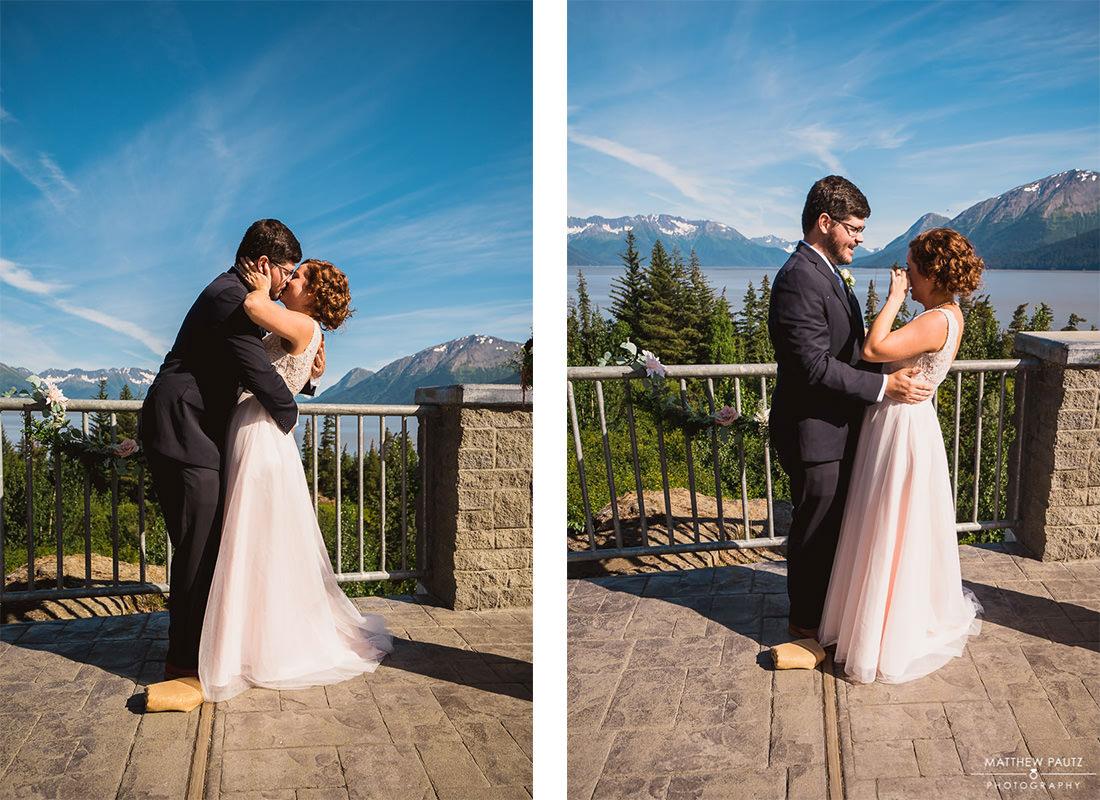destination wedding ceremony at Bird Point, alaska