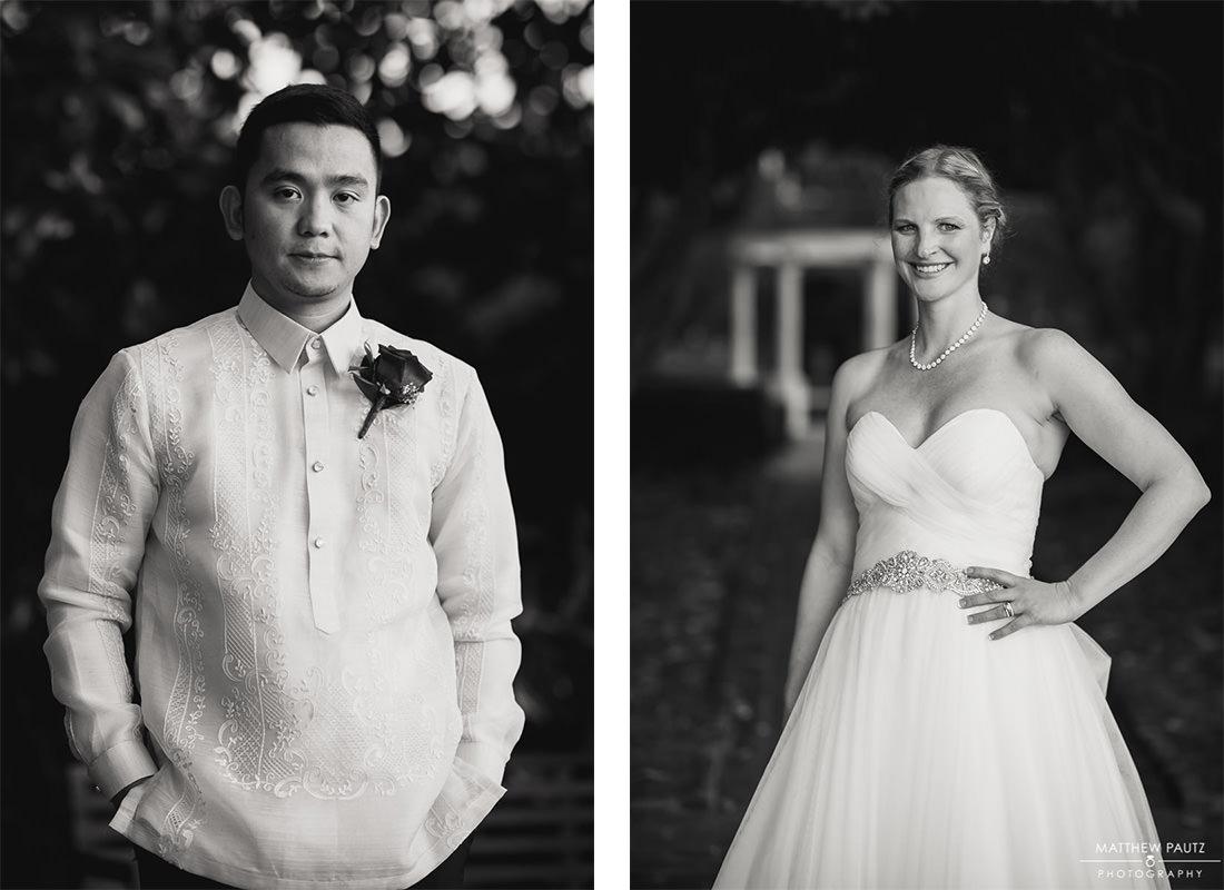 Bride and Groom portraits at Furman University