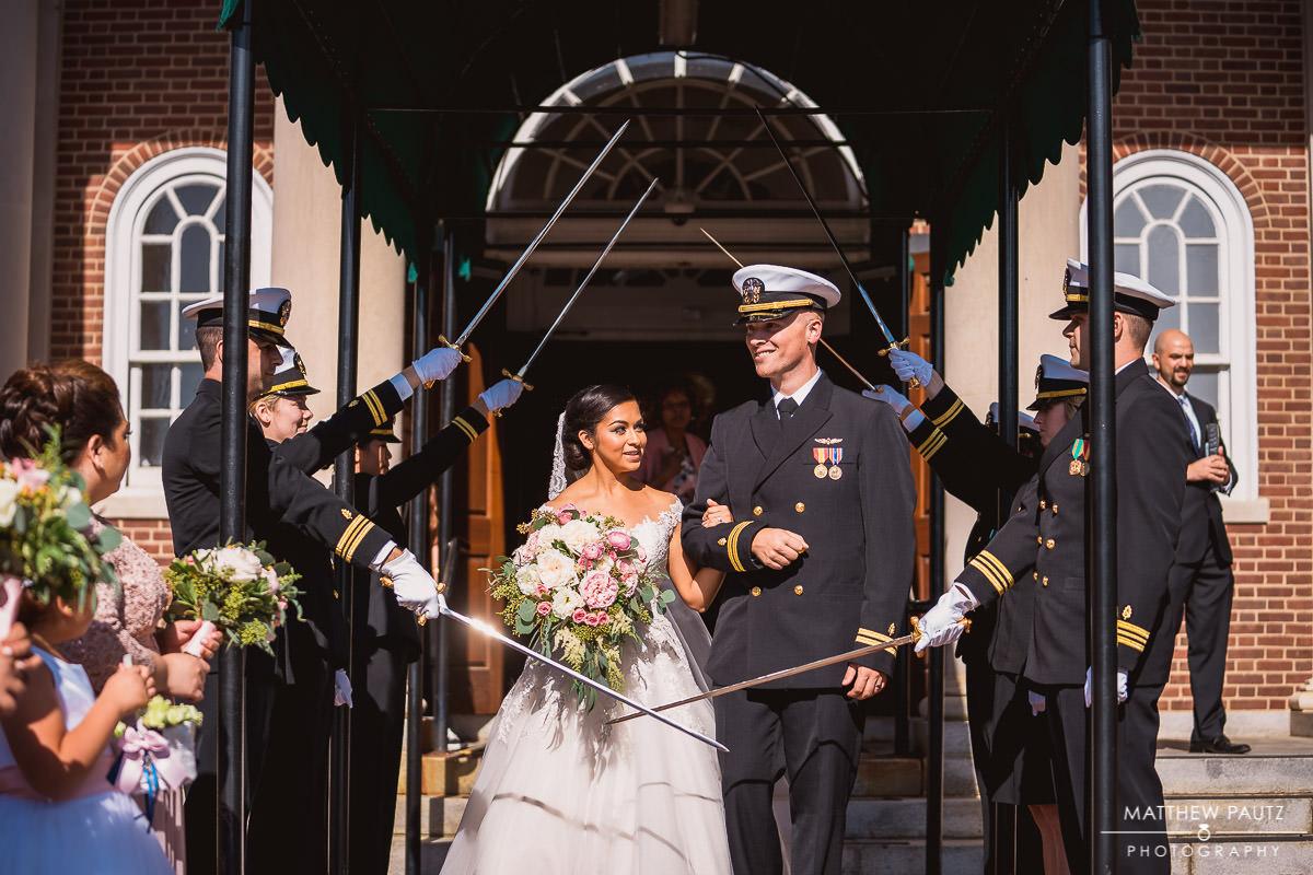 saber arch wedding photos