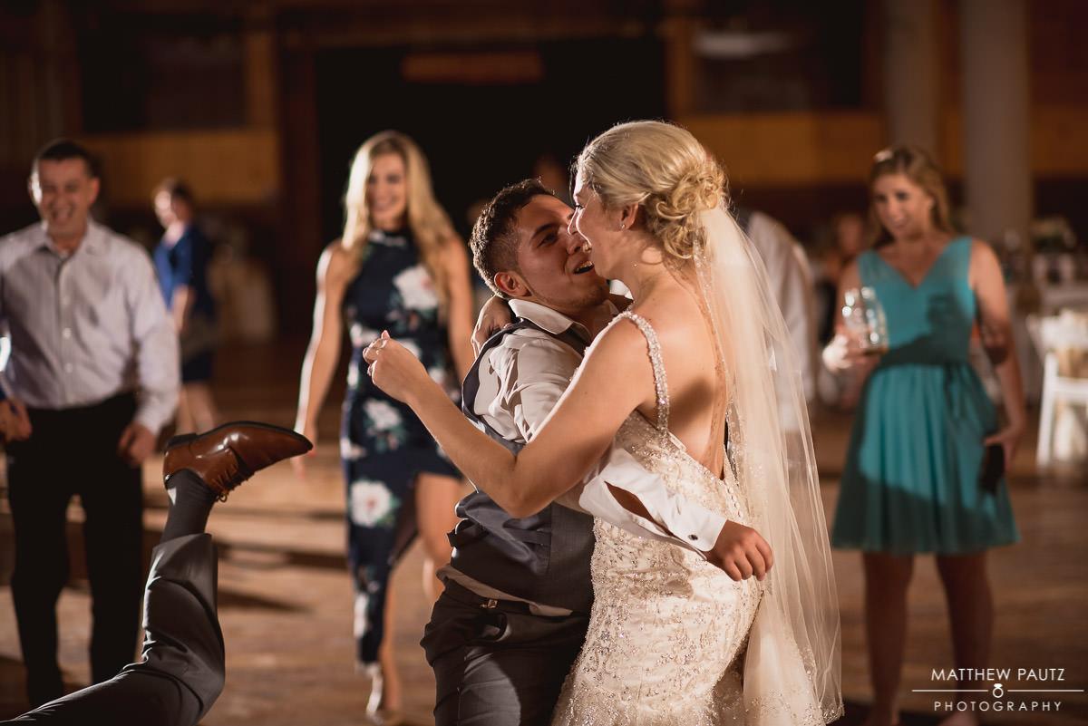 drunk dancing at wedding reception
