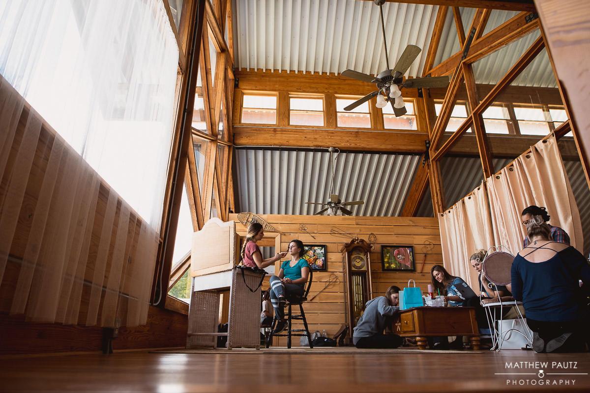 jeter mountain farm wedding prep area
