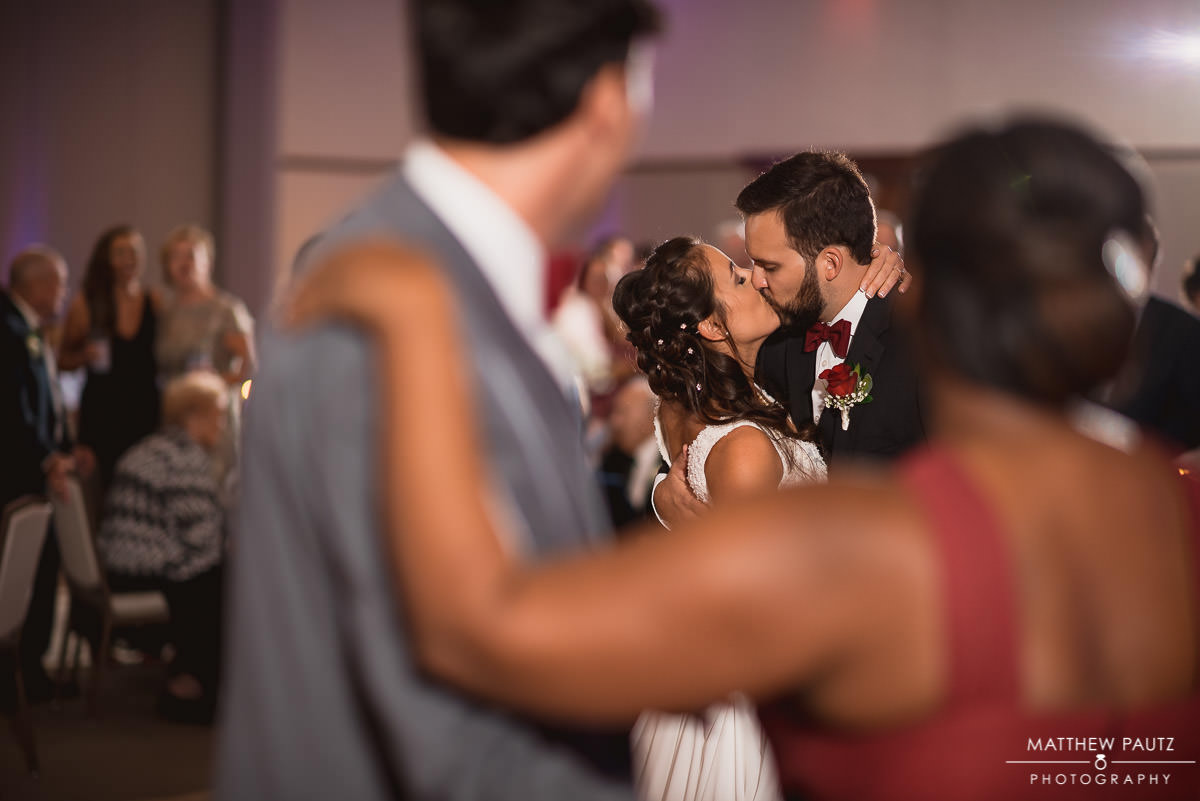 bride and groom's first dance at reception