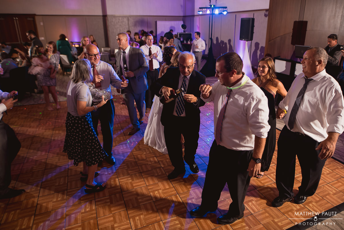 bridal polka dance at wedding reception