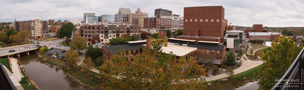 view of downtown greenville sc