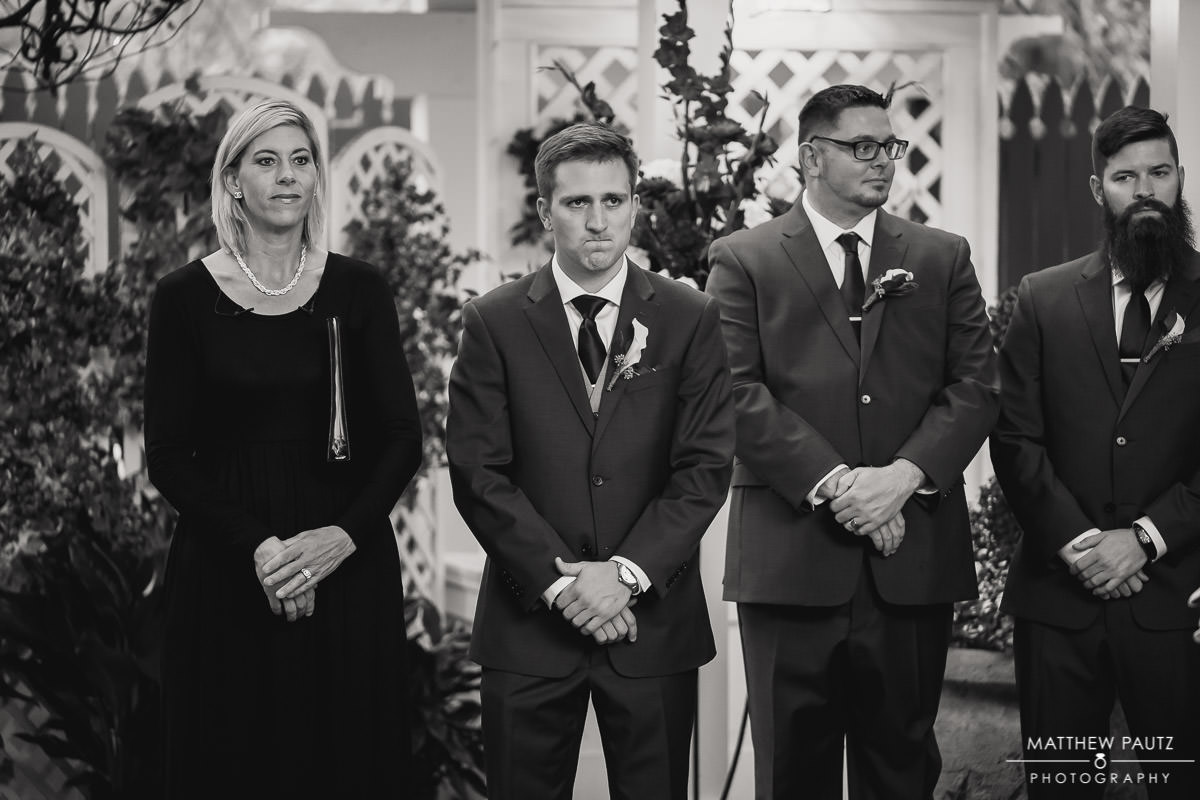 groom's reaction to seeing bride at ceremony