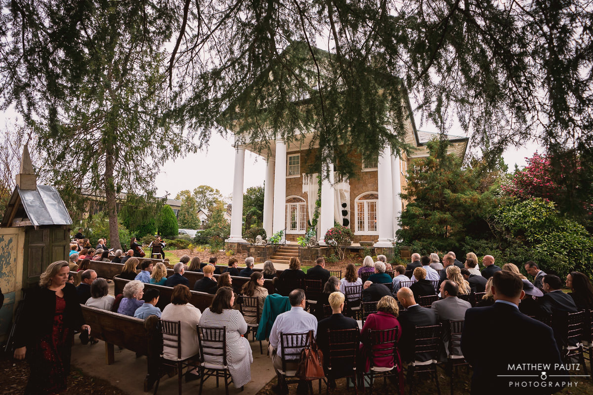 Wedding ceremony at The Gassaway Mansion