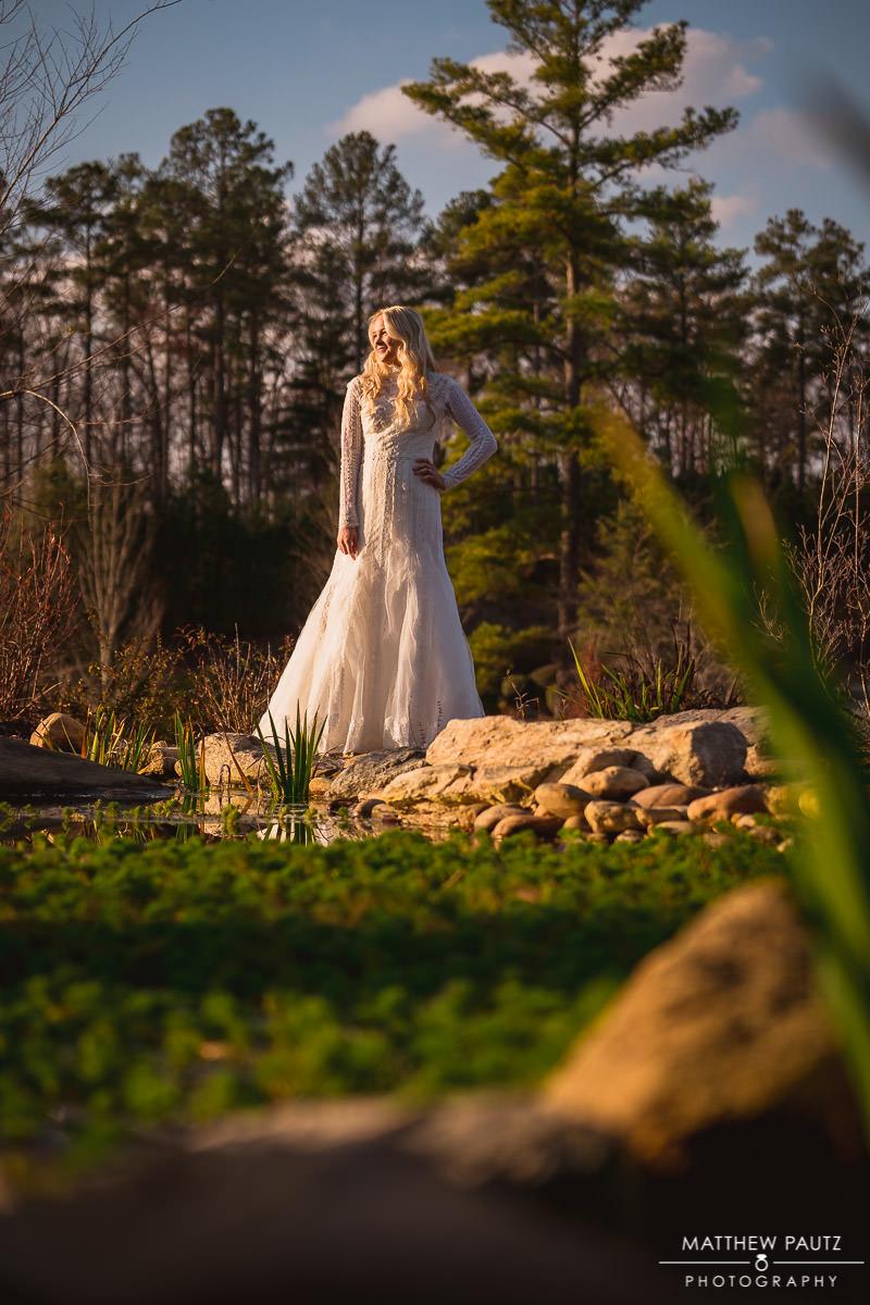 sunset bridal photo