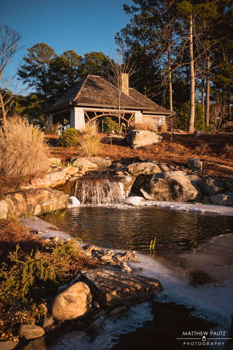 The Cliffs at Keowee Falls wedding venue in Winter