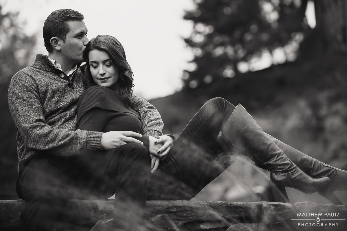 Engagement photos in Falls Park, Greenville SC