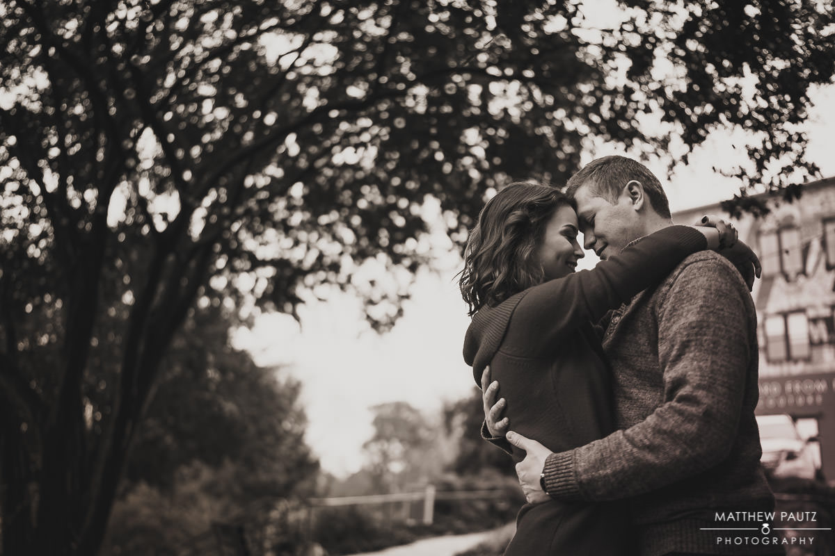 Engagement photos taken in Falls Park, Greenville SC