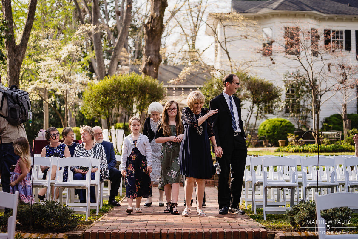 wedding ceremony at the Duncan Estate, Spartanburg