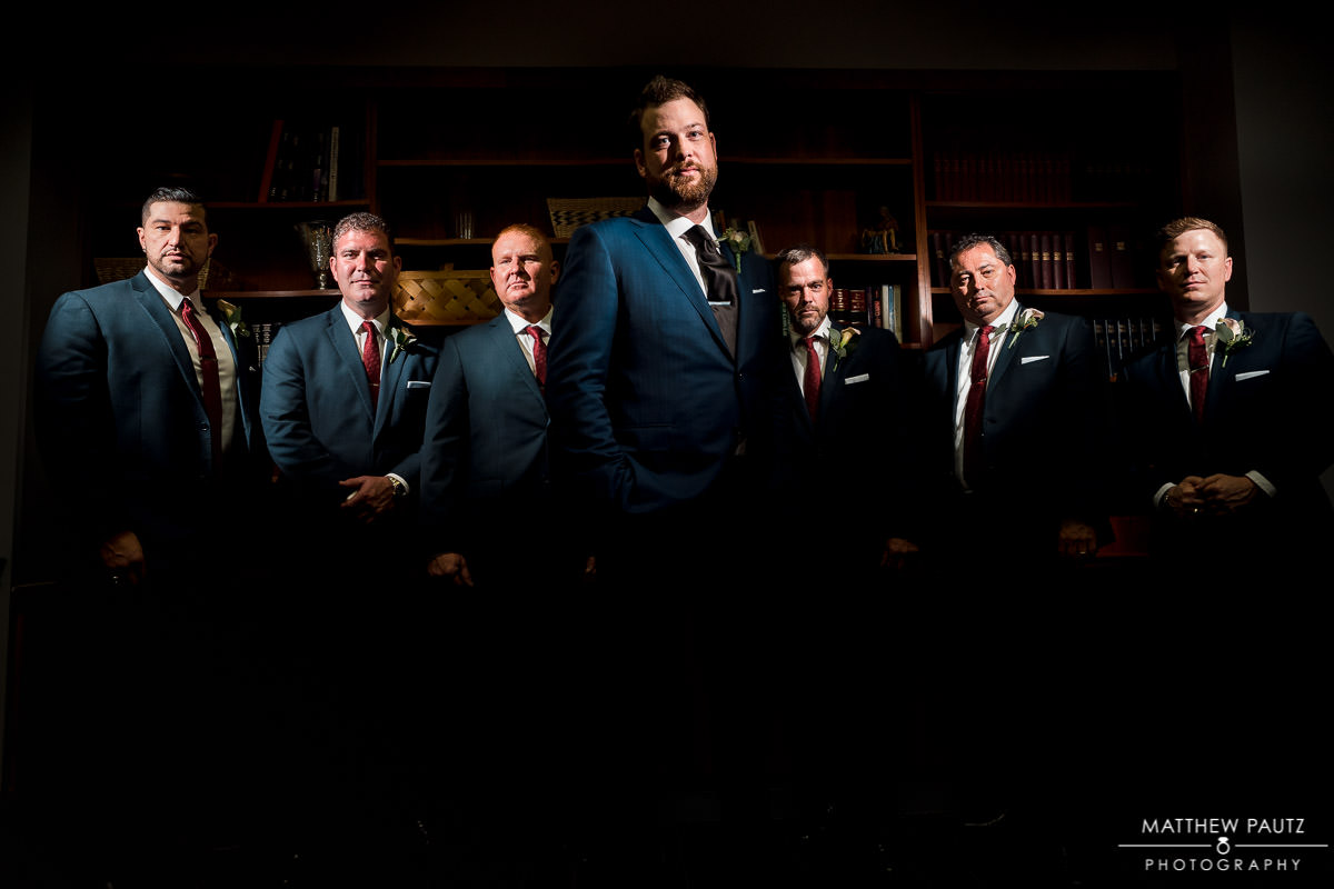 groomsmen flash composite group photo
