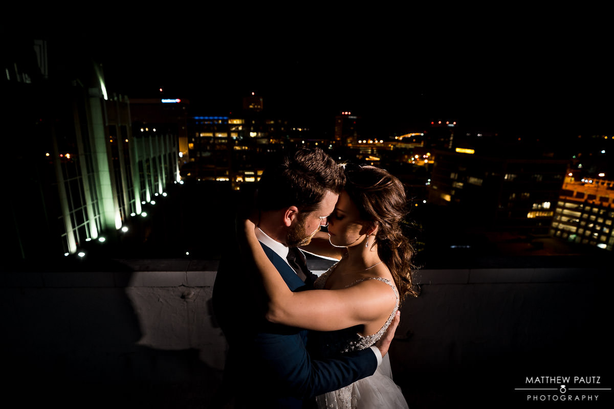 Westin Poinsett hotel roof wedding photos