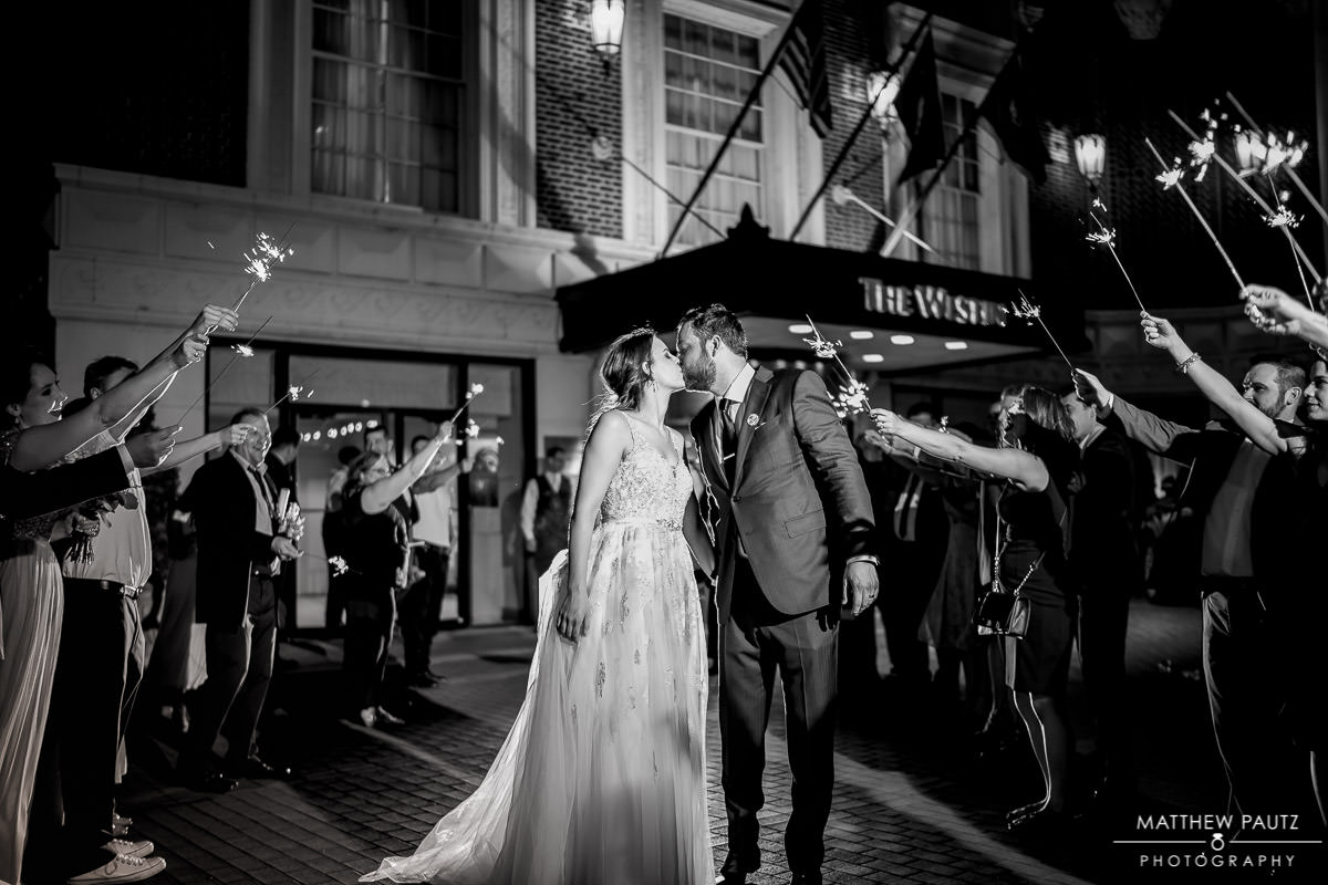 Sparkler exit at westin poinsett hotel
