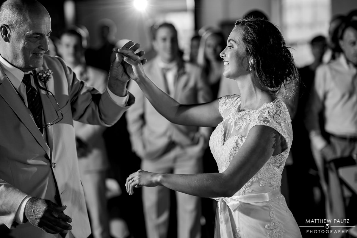 bride dancing with her father at larkins reception