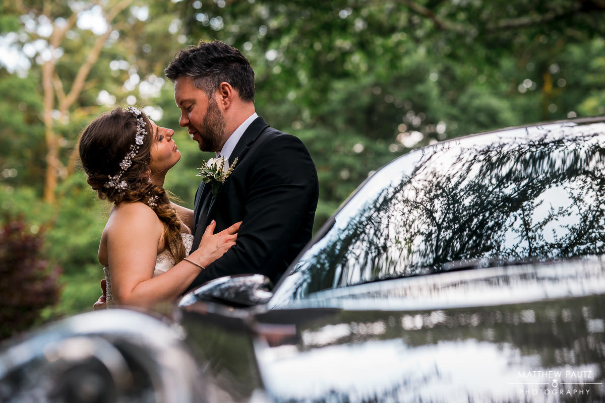 car wedding photos