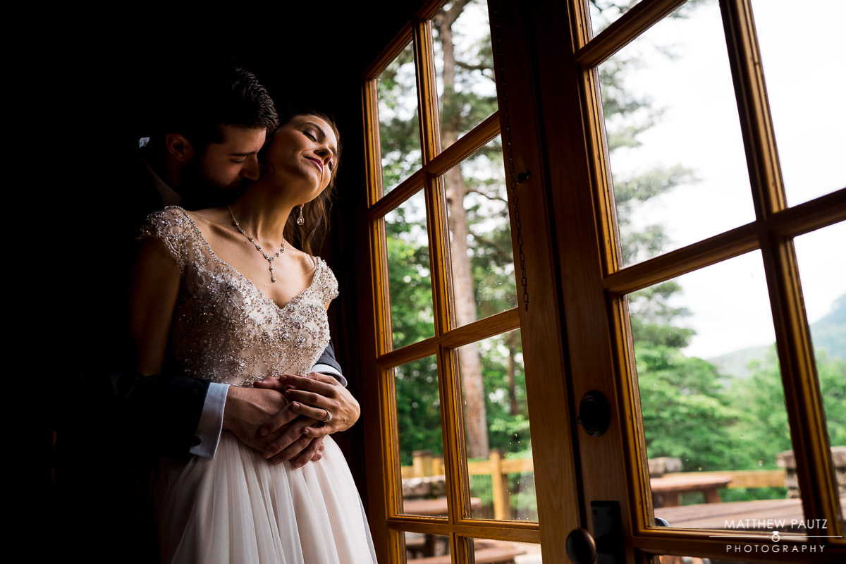 wedding at the lodge at table rock state park