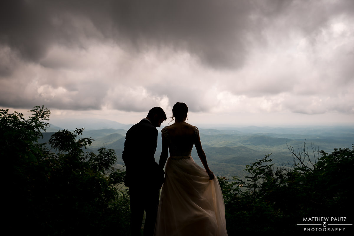 Rainy day wedding at Fred Symmes Chapel