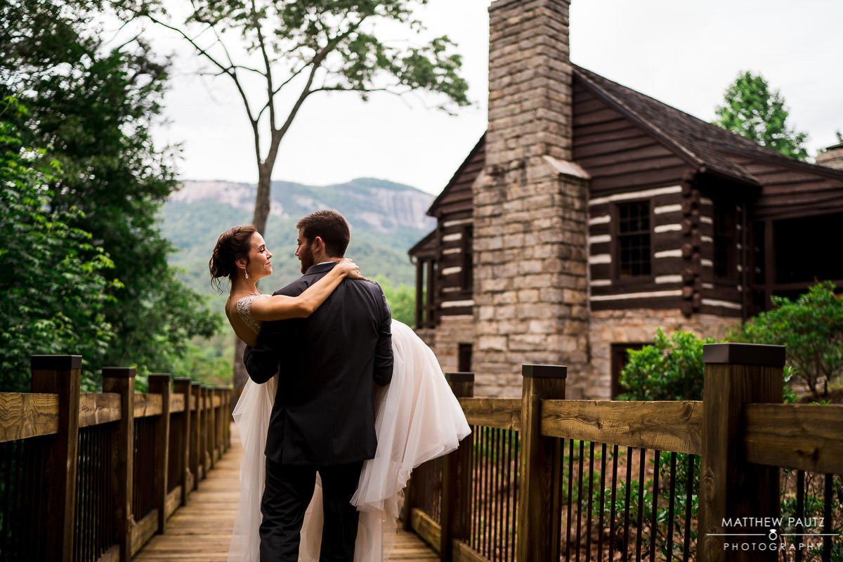 Table rock lodge wedding photos