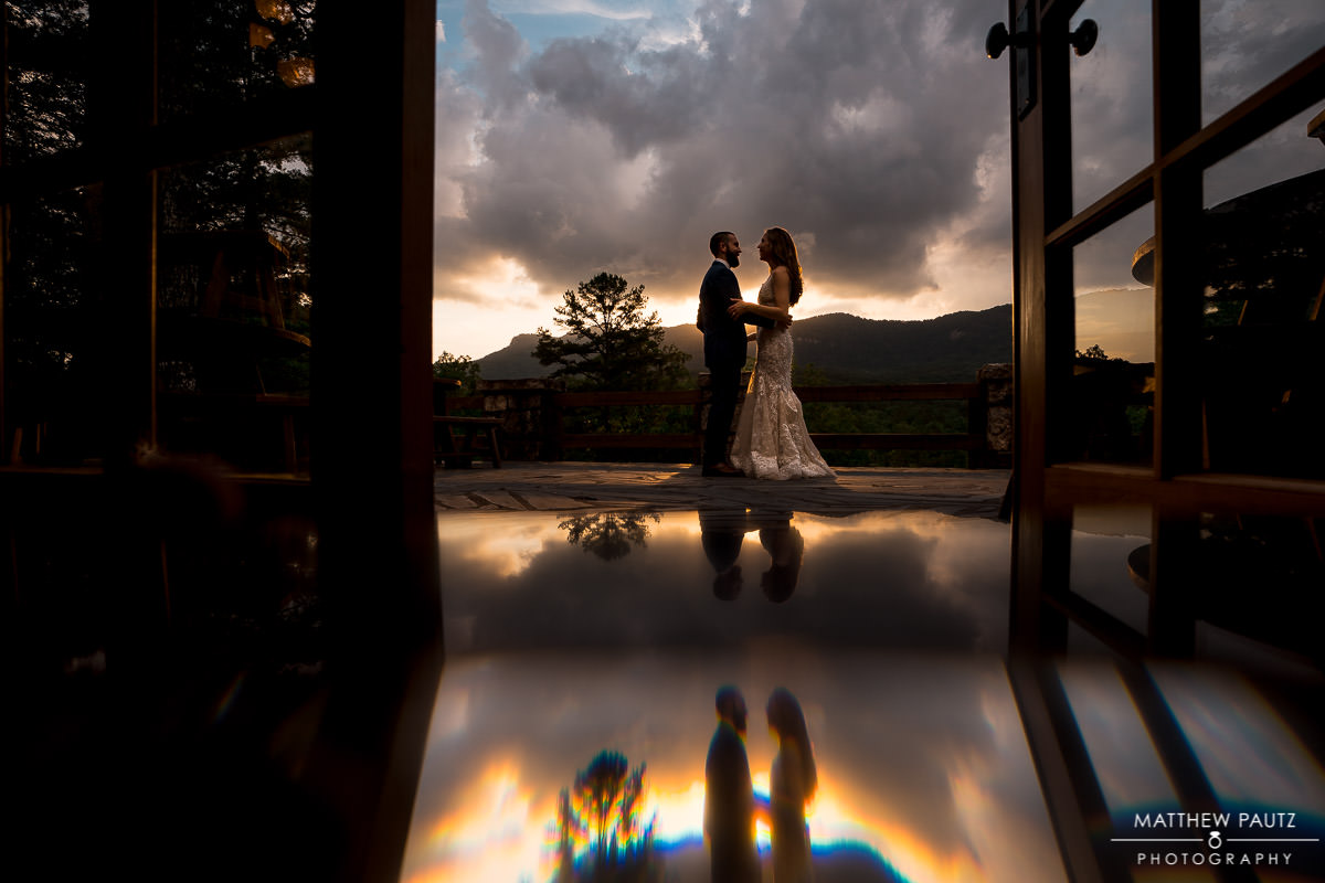Blue Ridge mountain wedding photos at Table Rock Lodge, SC
