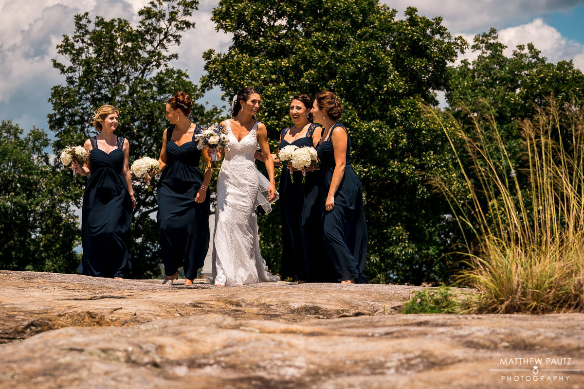 cliffs at glassy wedding photos