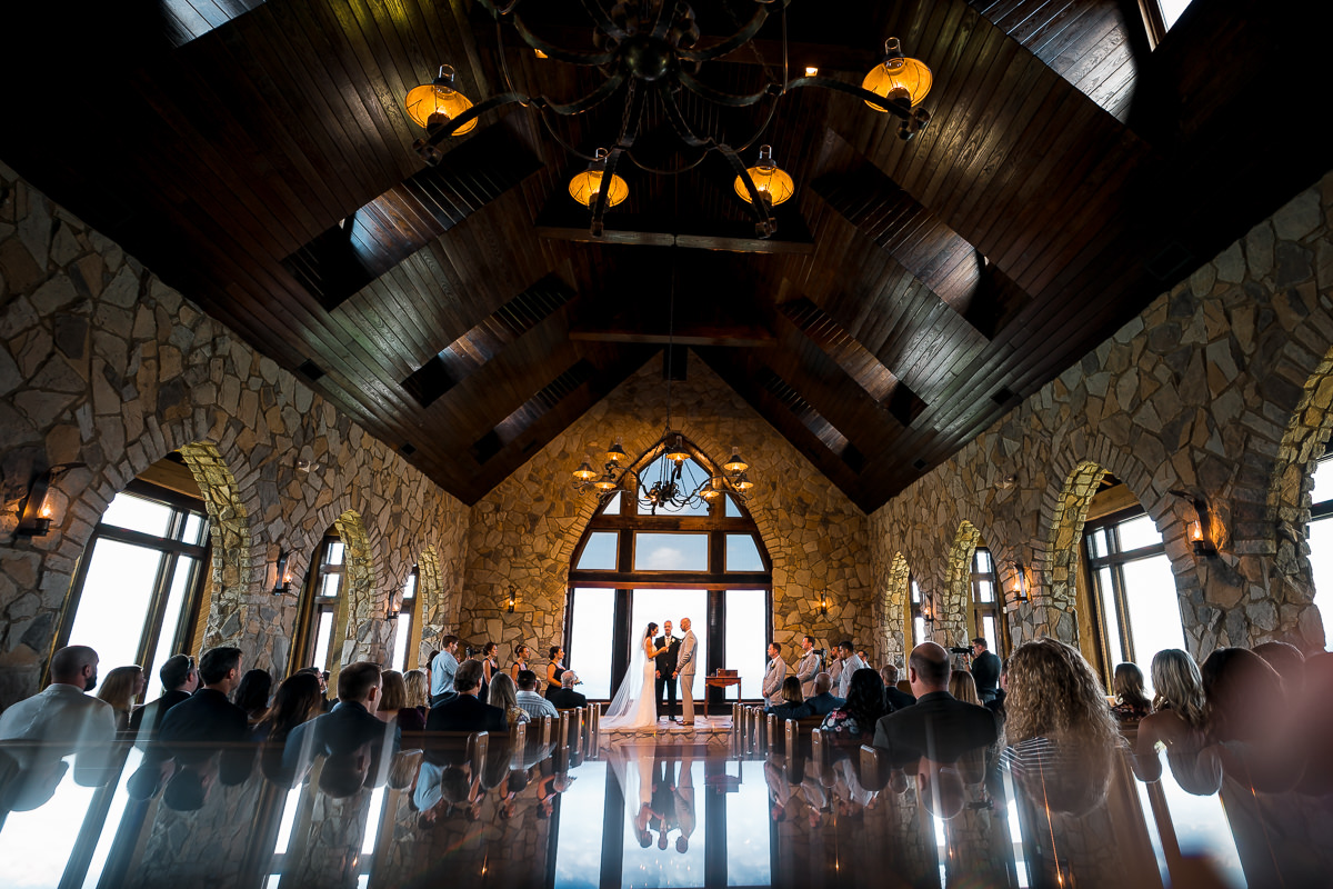 Wedding at Cliffs at Glassy Chapel