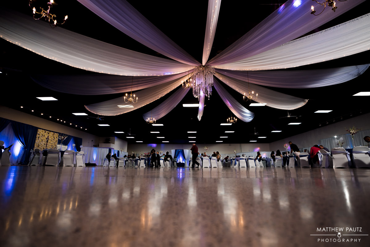 The greenville shrine club wedding reception space
