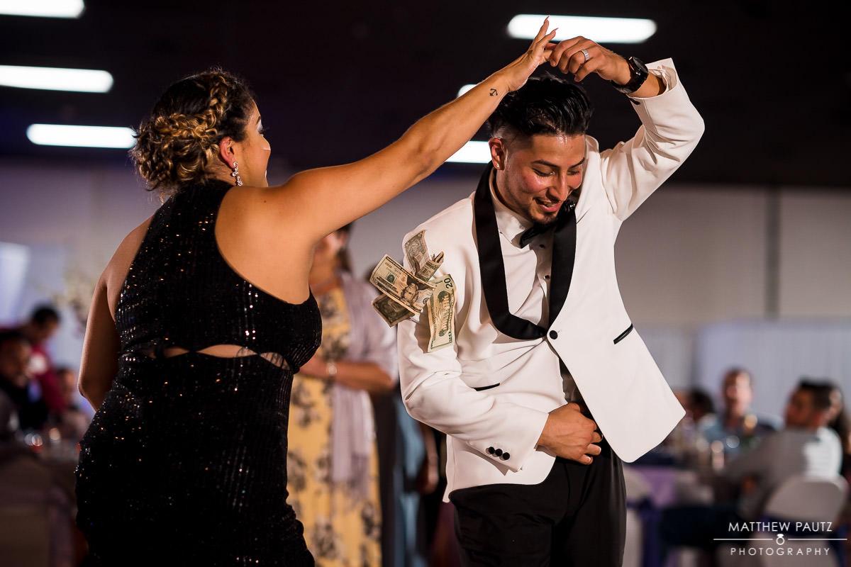traditional hispanic dancing at reception