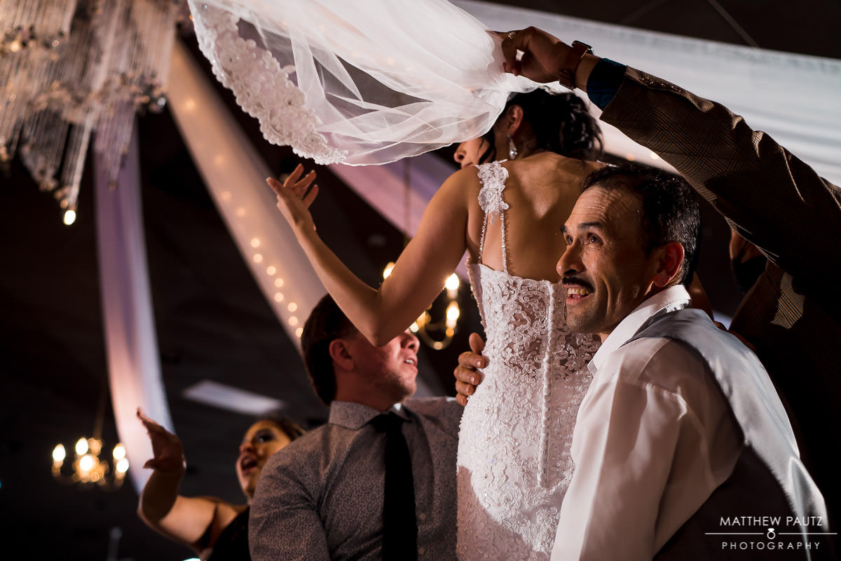 traditional hispanic dancing at wedding reception