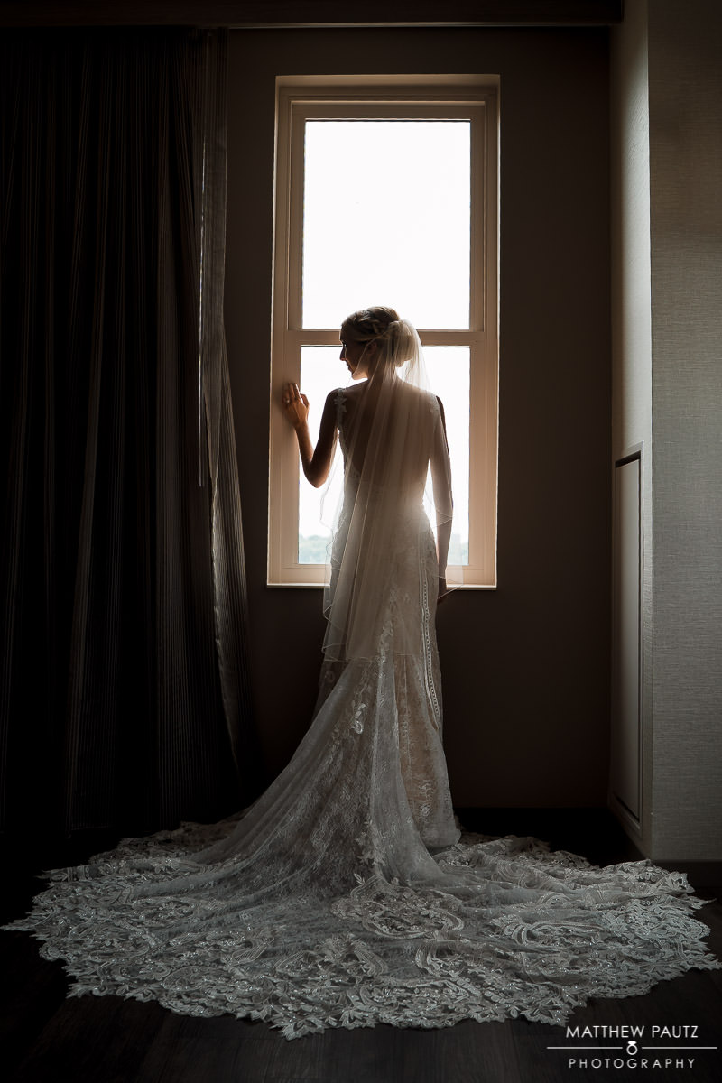 AC Marriott hotel bridal portrait
