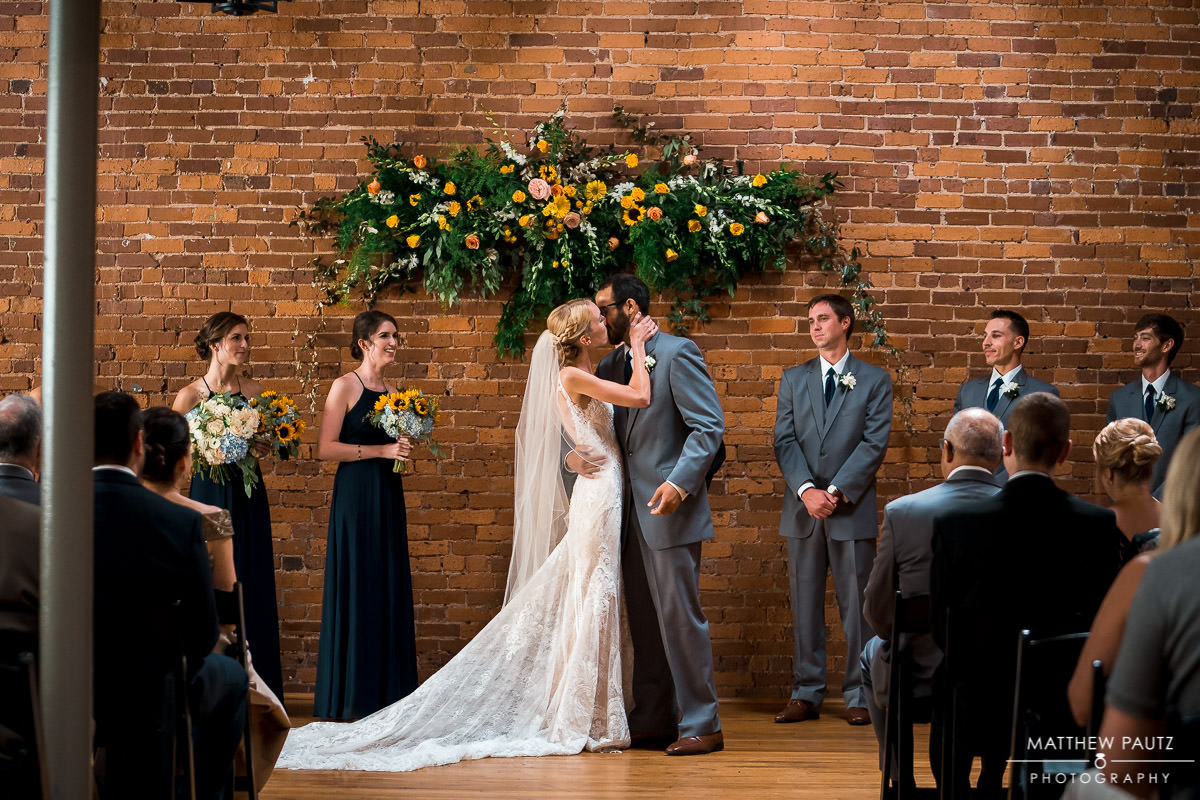 wedding ceremony at Indigo Hall, Spartanburg sc