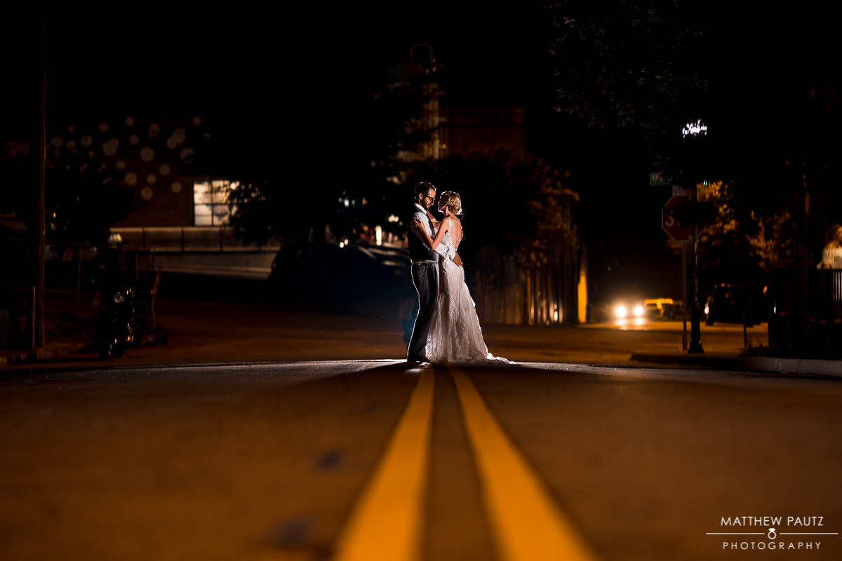 indigo hall wedding photos at night