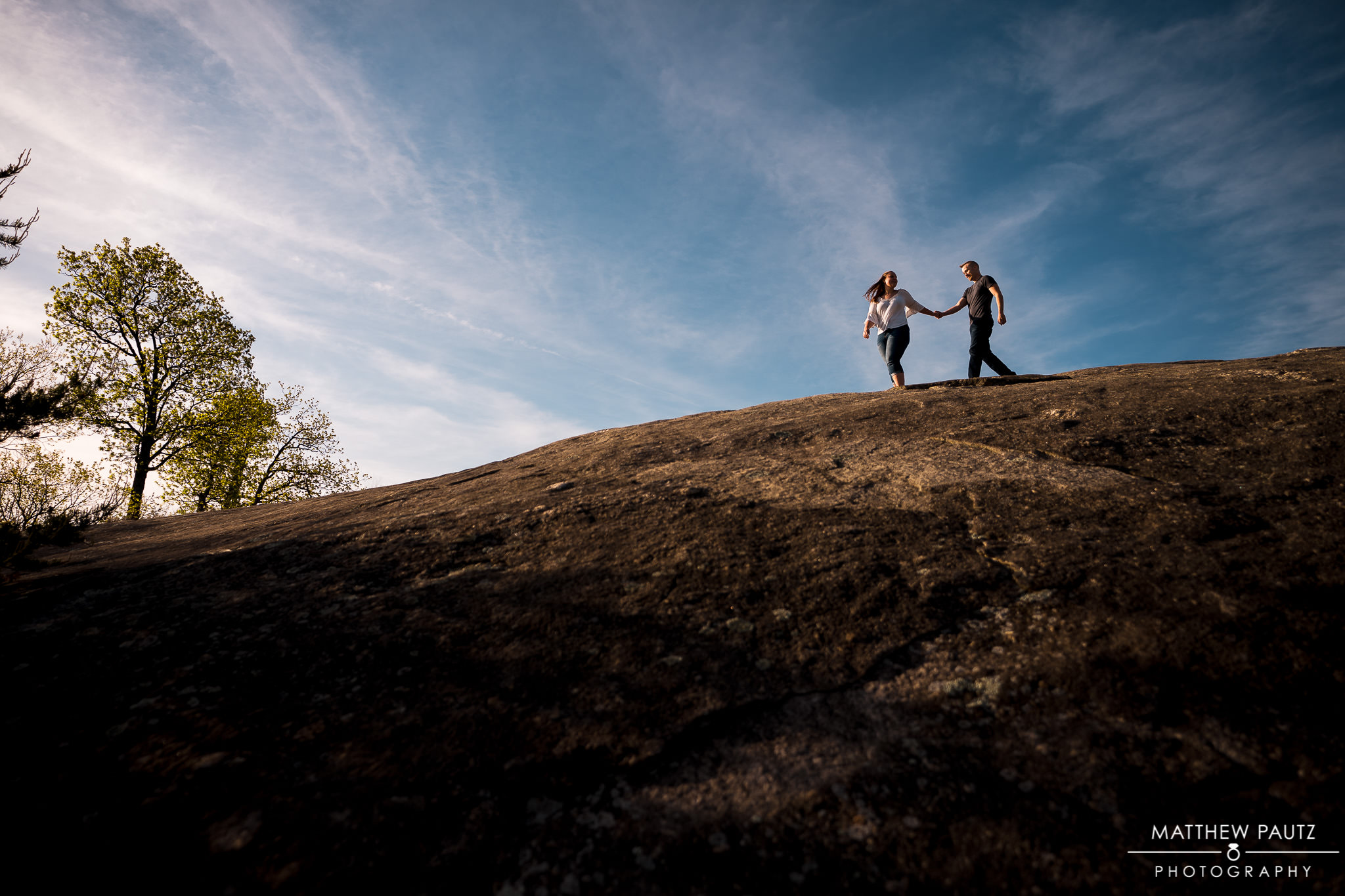 Cliffs at Glassy mountain engagement photos