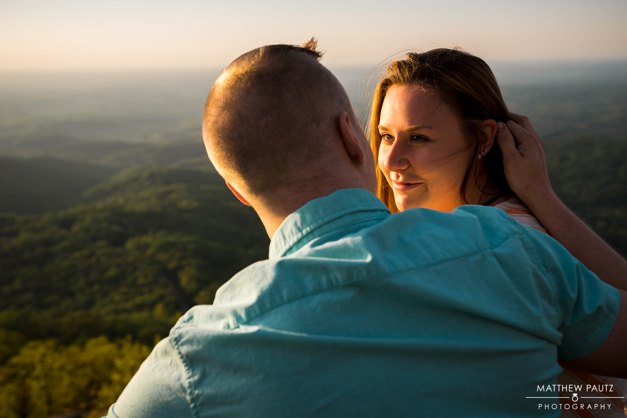 mountain engagement photos at The Cliffs at Glassy Mountain