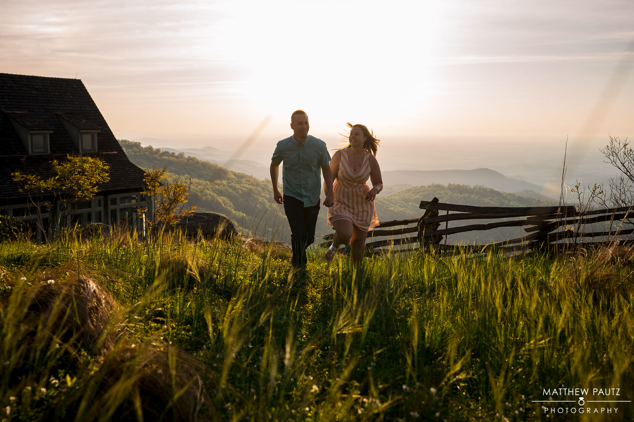 sunrise engagement photo