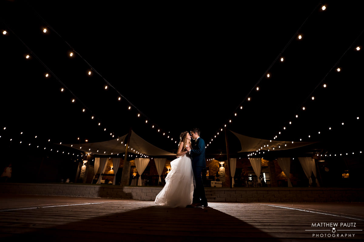 Night wedding photography at the Rutherford