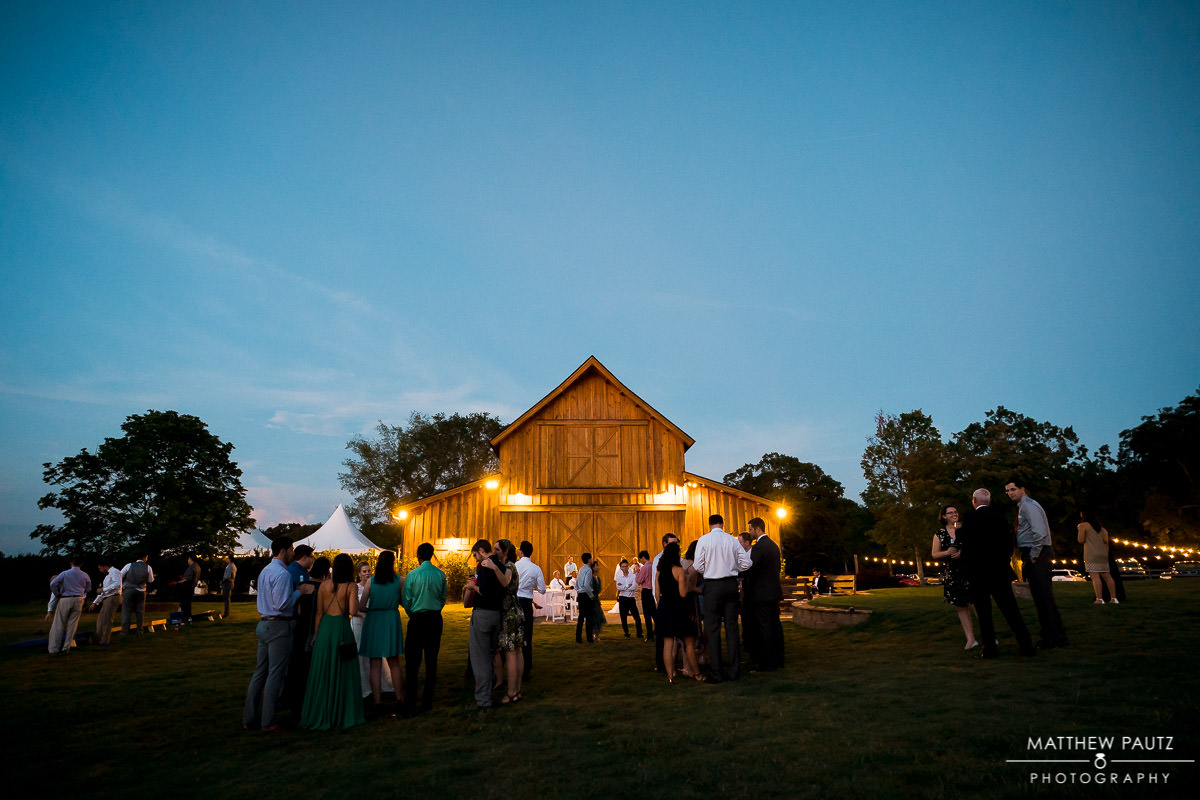 Windy Hill barn wedding at night